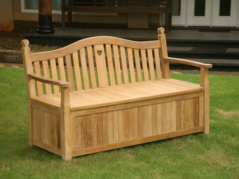 Heart Storage Bench Express Garden Storage