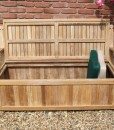 Garden Storage Bench with Heart Cut Out