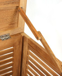 FSC Certified 1.2m Teak Cushion Box Hinge