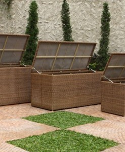 Rattan Cushion Box Natural